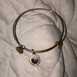 April birthstone Alex and Ani bracelet gold